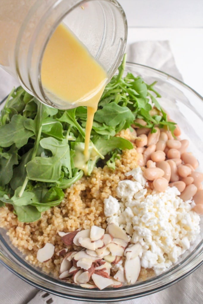 How to make Quinoa Salad with Orange Vinaigrette, Avocado & Arugula recipe