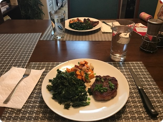 blue apron steak