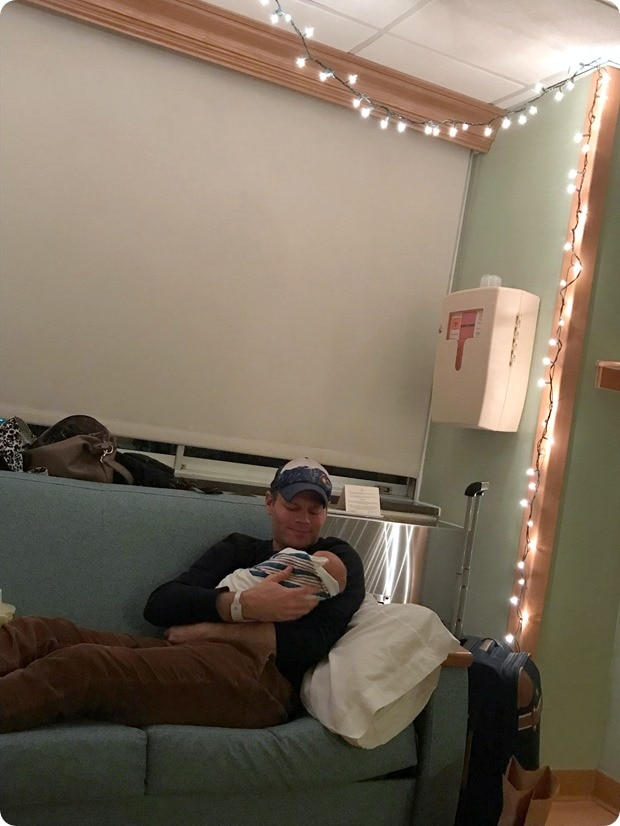 hospital room christmas lights