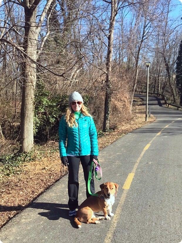 one month postpartum walk