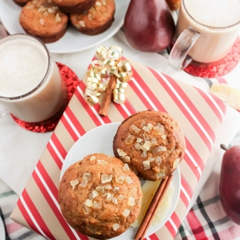 Pear Ginger & Honey Muffins