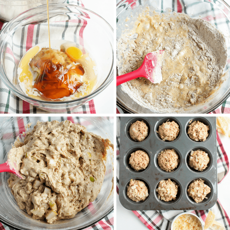 How to make Pear ginger & Honey Muffins