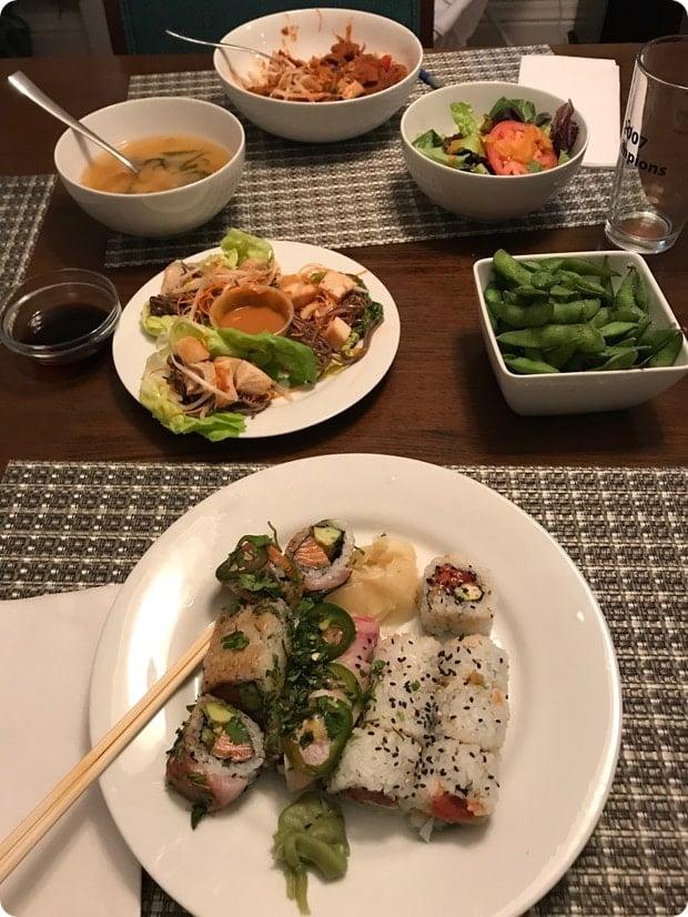 sushi post partum