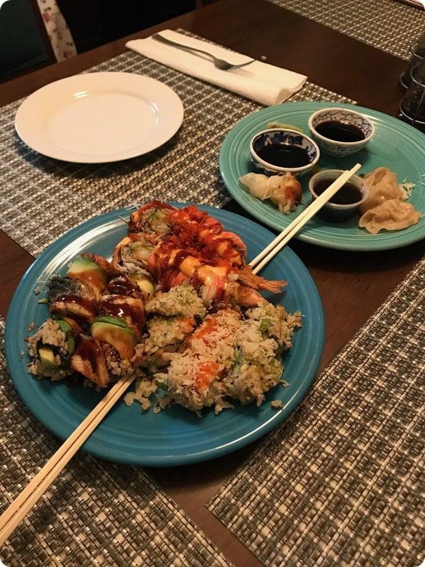 sushi post pregnancy