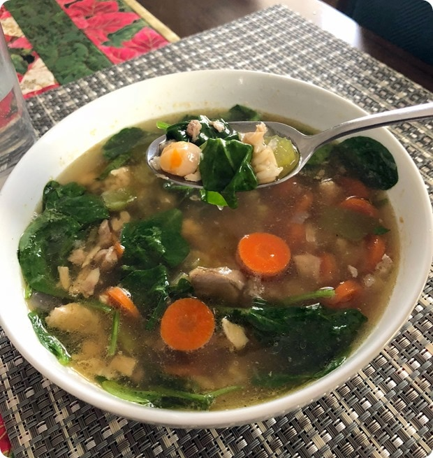 homemade turkey veggie soup
