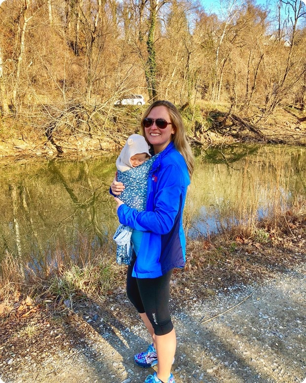 c&o canal trail hike with baby