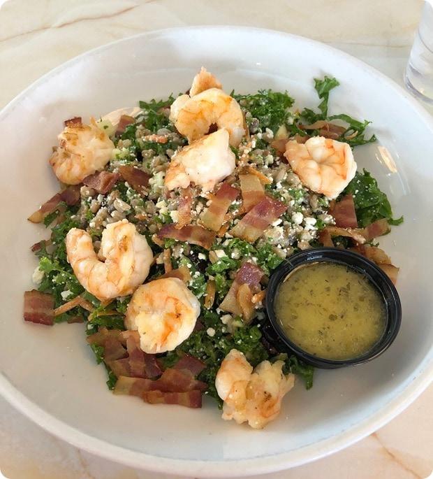 silver diner kale bacon salad