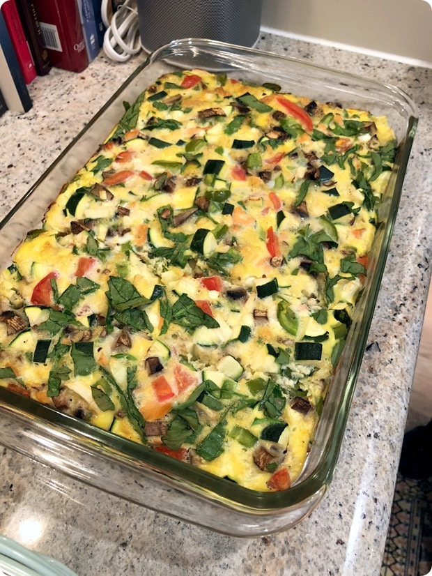 smoked salmon vegetable egg casserole2