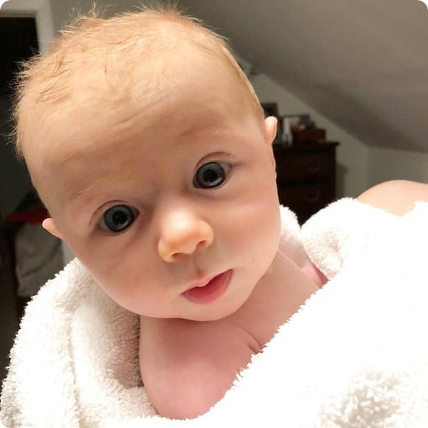 baby bath snuggles