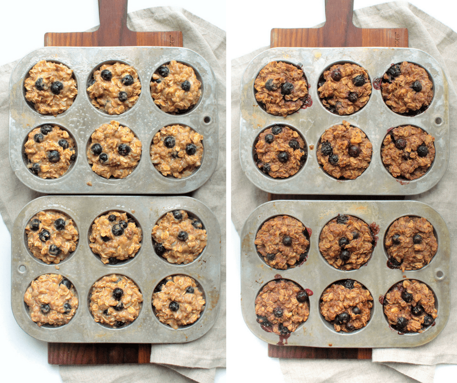 how to make blueberry baked oatmeal power bites