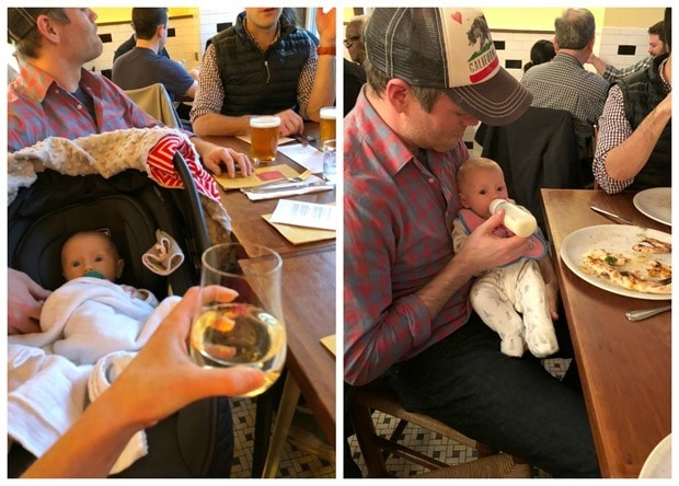 how to have dinner out with a 3 month old
