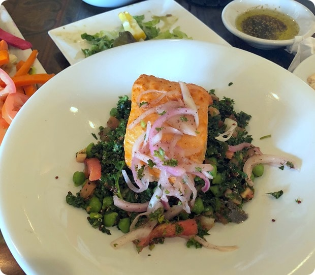 lebanese taverna lunch salmon salad