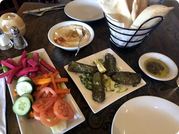 lebanese taverna lunch sampler
