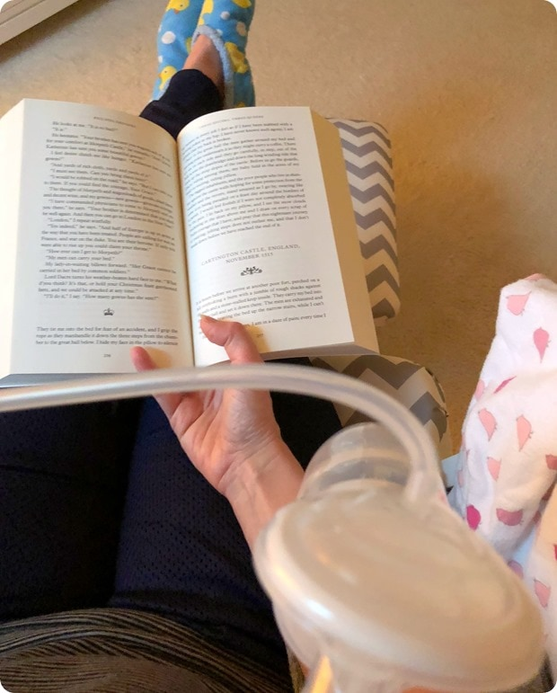 reading while pumping