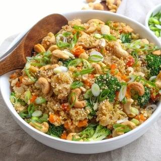 Instant pot quinoa fried rice 2