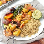Grilled Shrimp and Pineapple Skewers with Coconut Quinoa