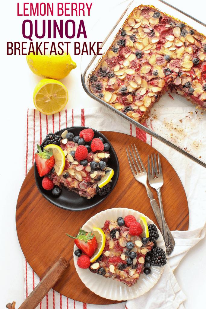 lemon berry quinoa breakfast bake