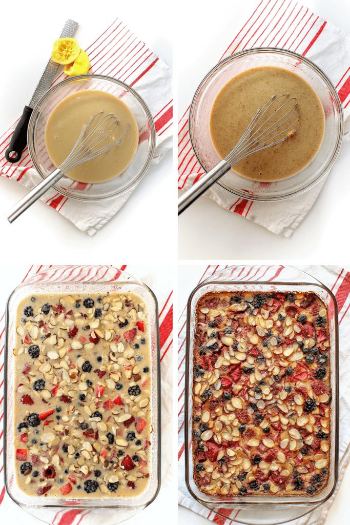 how to make lemon berry quinoa breakfast bake