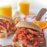 Orange Juice BBQ Chicken Sandwiches