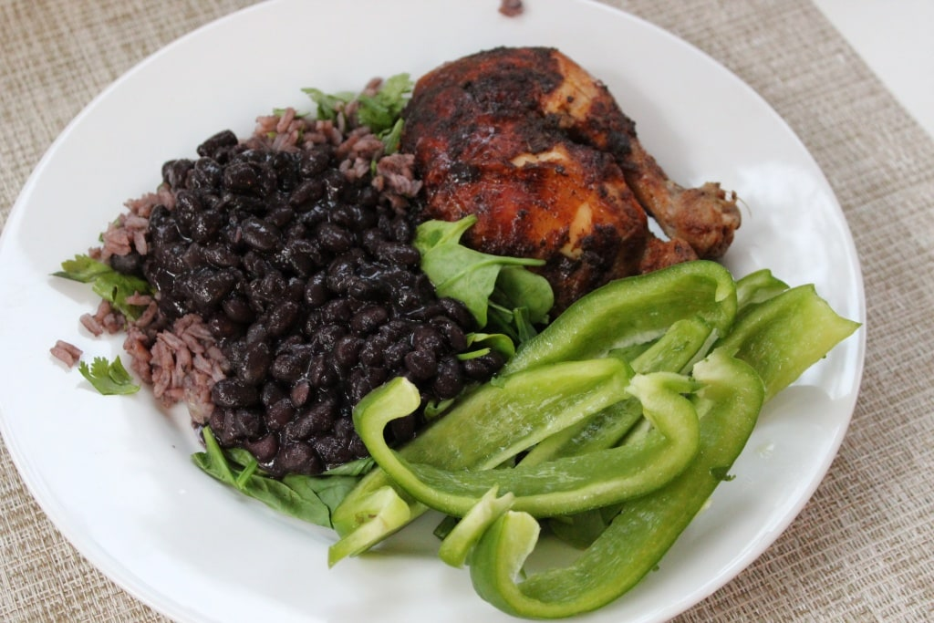 chicken rice beans
