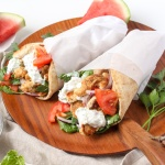 Chicken Gyros with Watermelon Rind Tzatziki Recipe