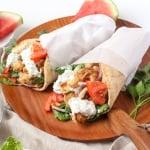 Chicken Gyros with Watermelon Rind Tzatziki Recipe