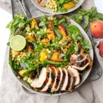 Honey Lime Chicken with Grilled Peach & Corn Salad