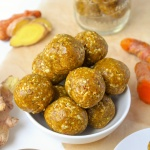 No Bake Turmeric Ginger Energy Balls