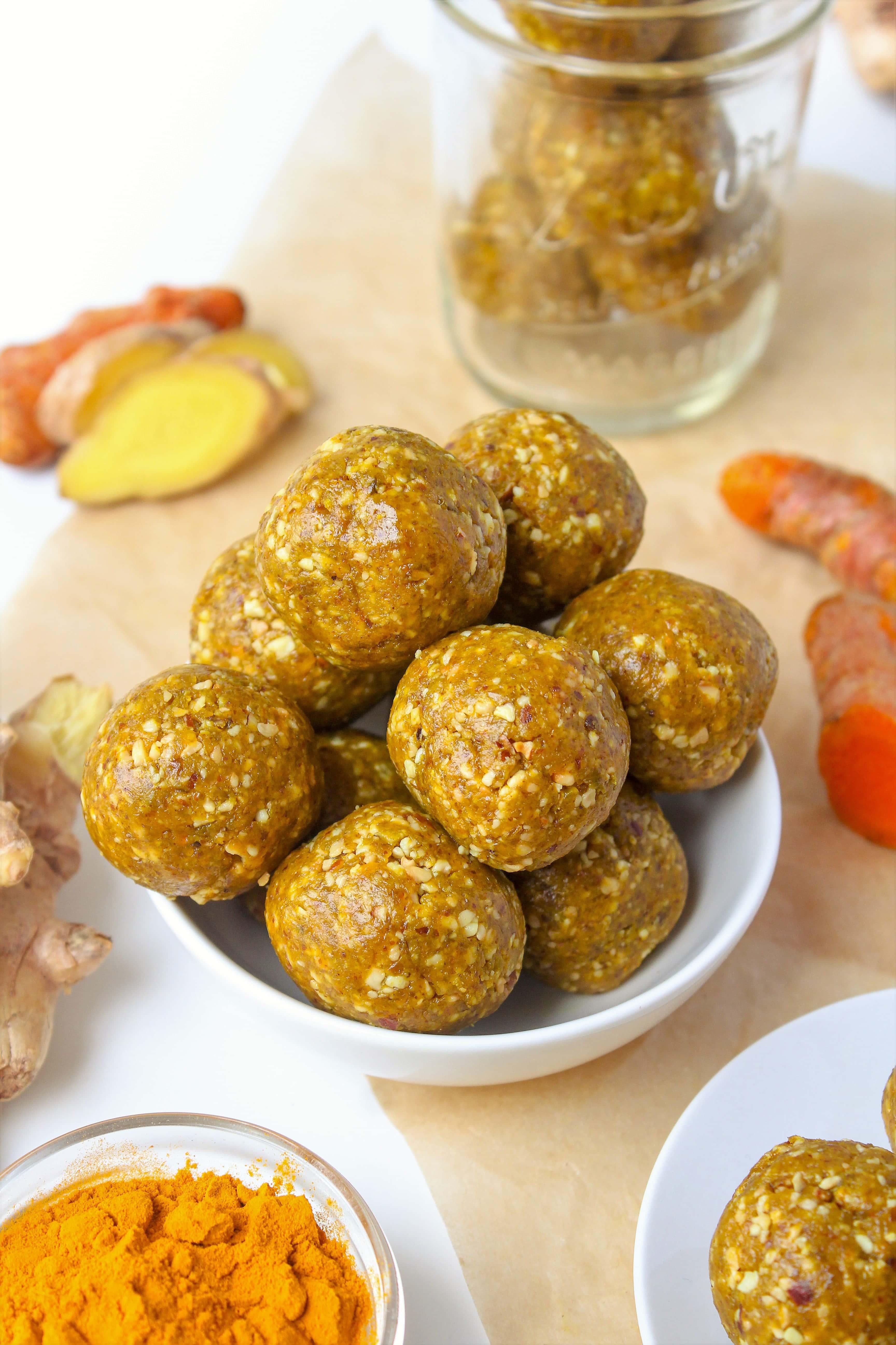 Turmeric Ginger Energy Bites