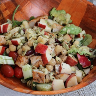 easy dinner salad with chicken apples and more