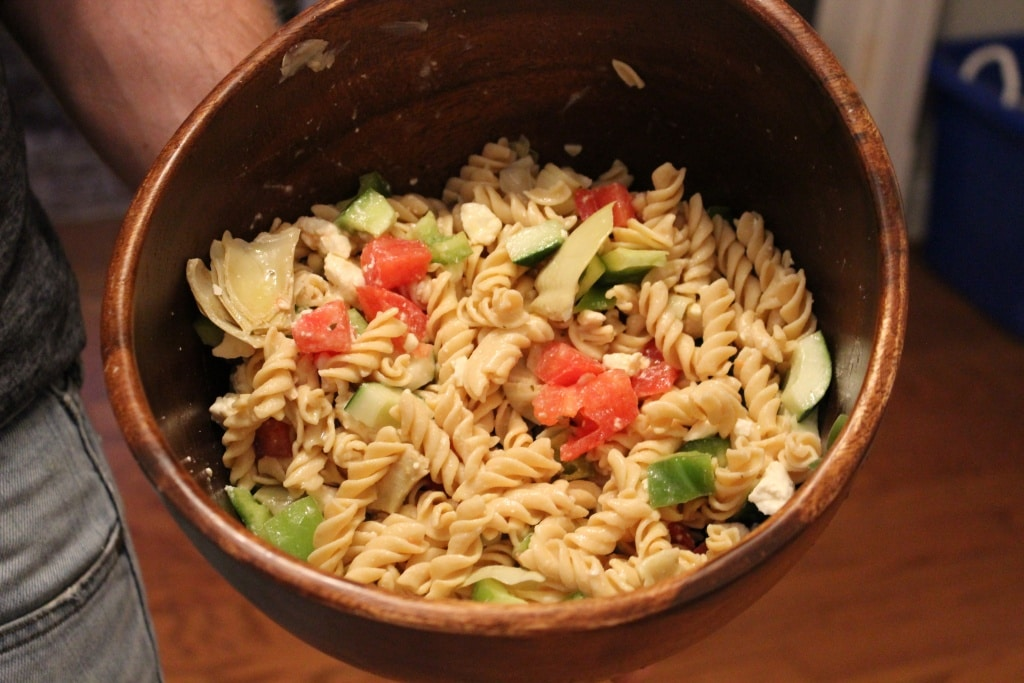 greek chicken pasta salad easy recipe