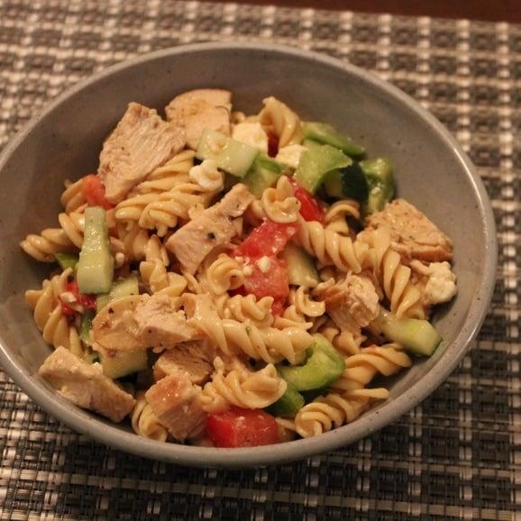 greek chicken pasta salad easy