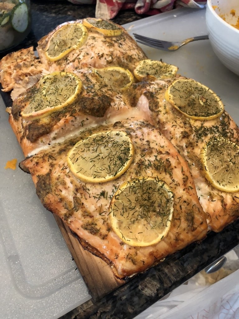 roasted salmon with dill lemon old bay