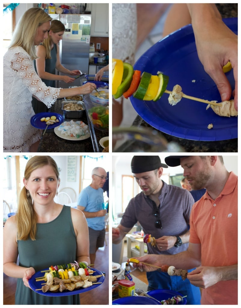 build your own kabobs party