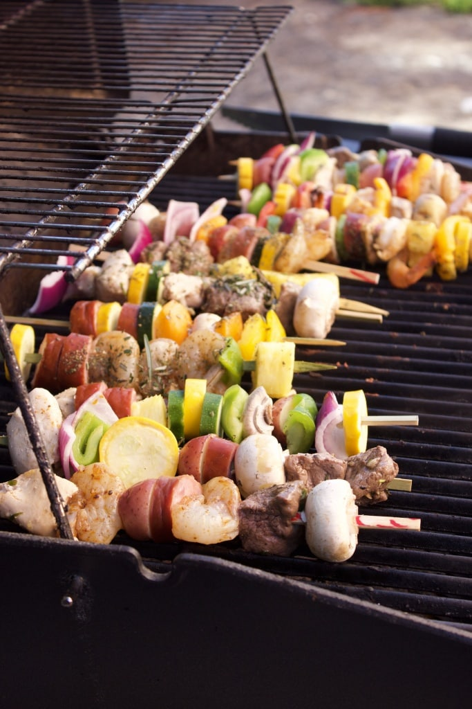 create your own kabob night dinner party