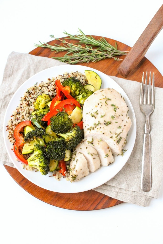 Garlic and Herb Sheet Pan Chicken and Veggies recipe