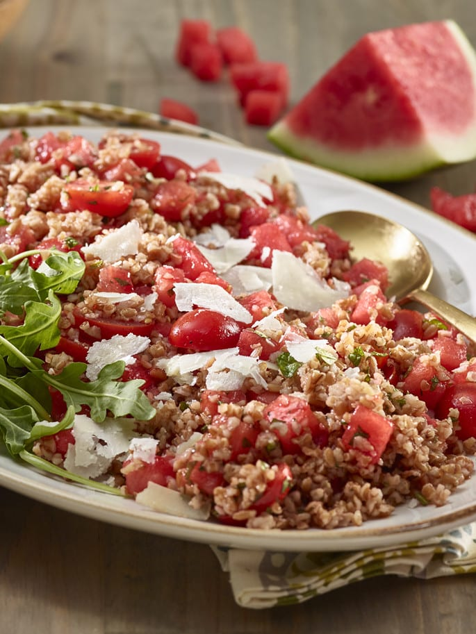 bulgur wheat watermelon salad