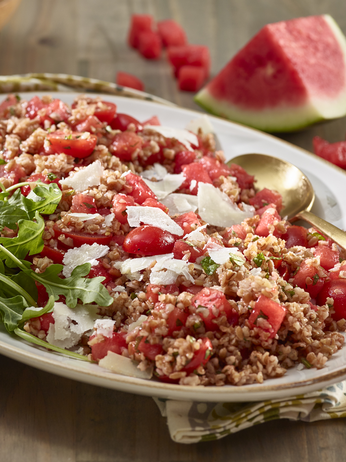 bulgur wheat watermelon salad