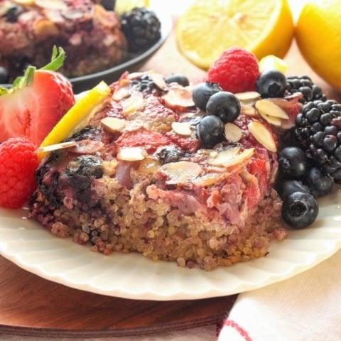 Lemon Berry Baked Breakfast Quinoa