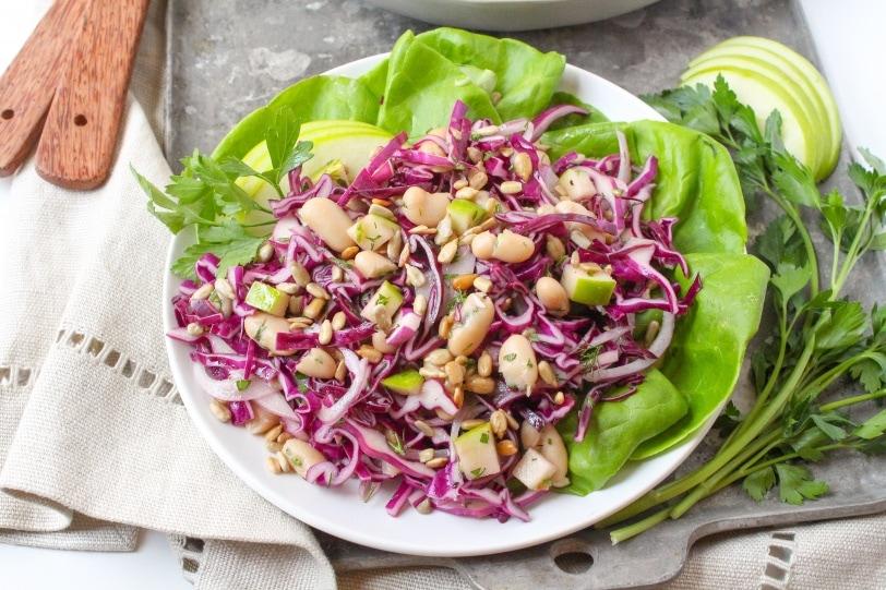 white bean cabbage slaw