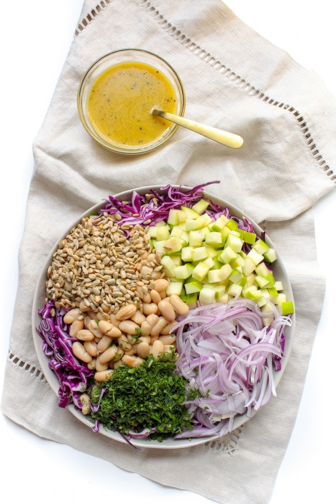 white bean and cabbage slaw with apples and cider vinaigrette ingredients