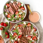Grilled Steak and Strawberry Salad with Strawberry Vinaigrette