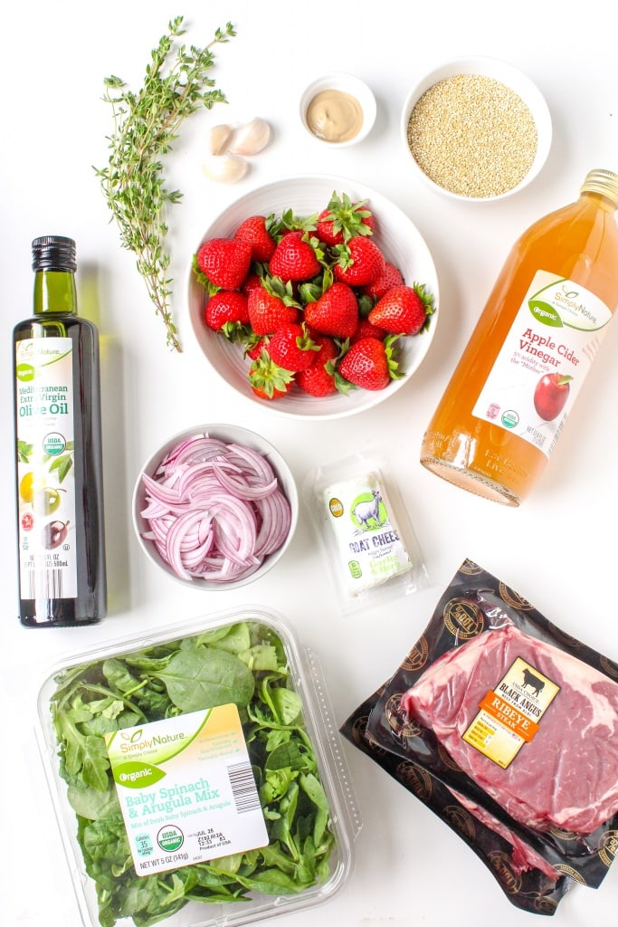 steak and strawberry salad ingredients how to make