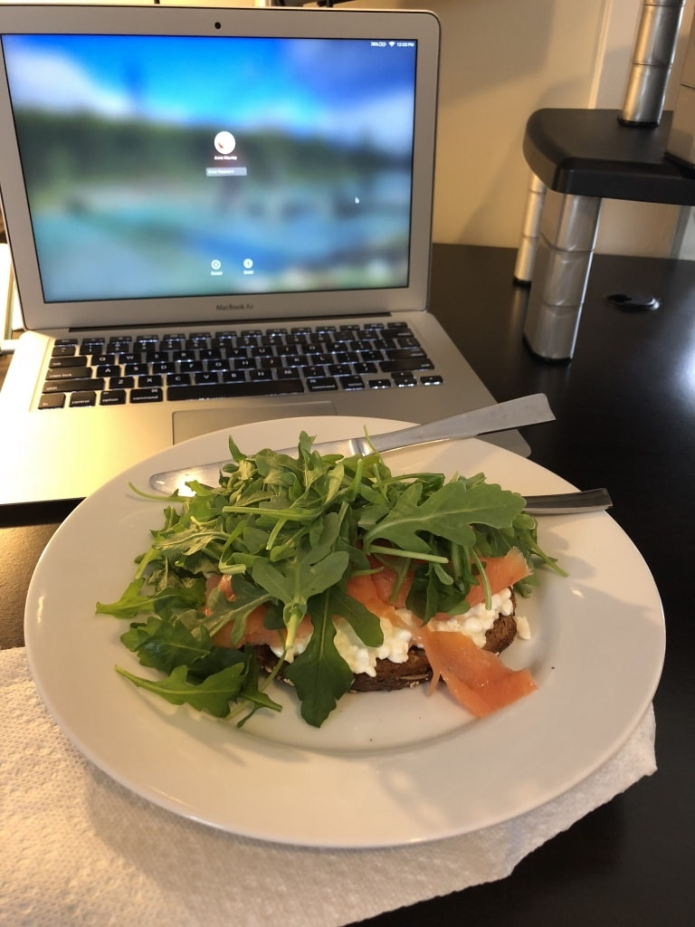 cottage cheese smoked salmon toast
