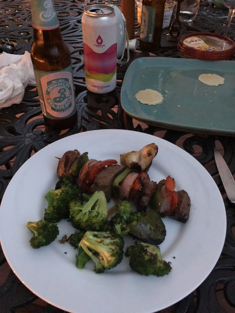 grill night skewers