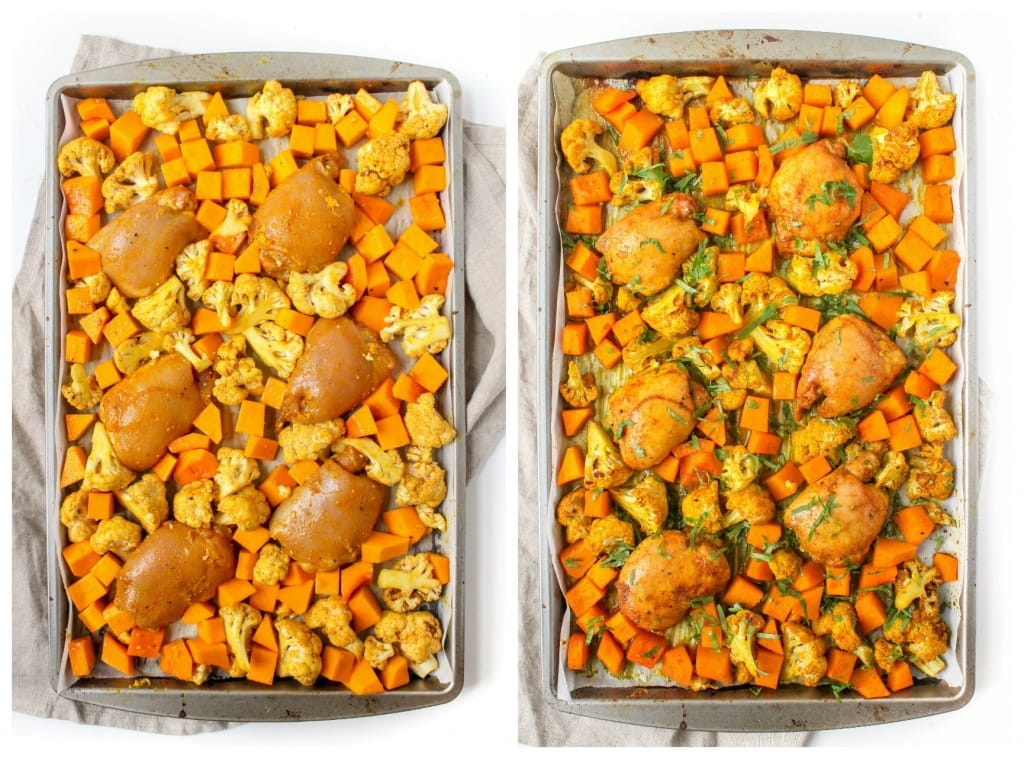 maple curry sheet pan chicken recipe