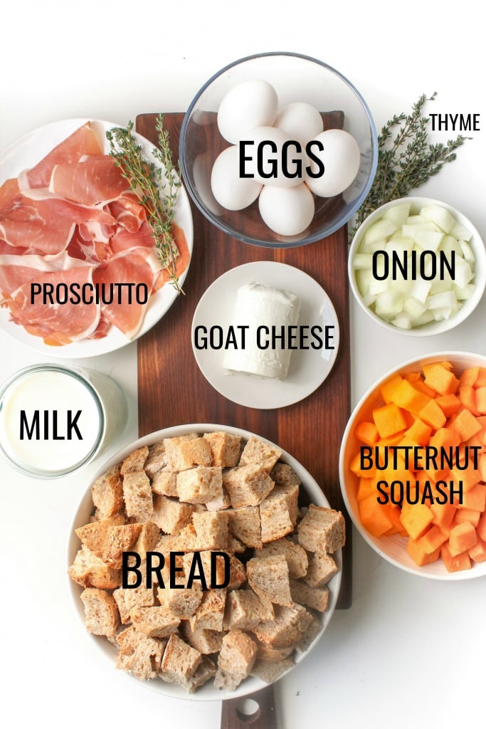 butternut squash strata ingredients