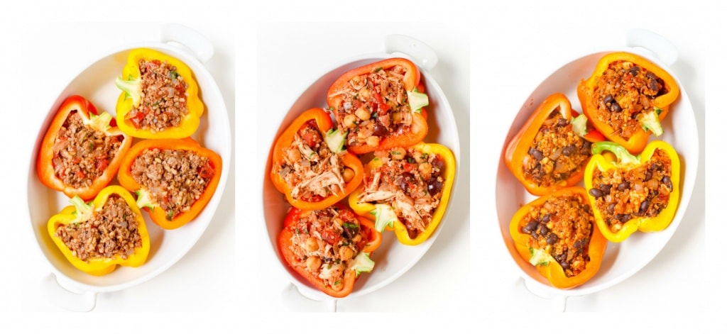 How to make mix and match stuffed peppers recipe