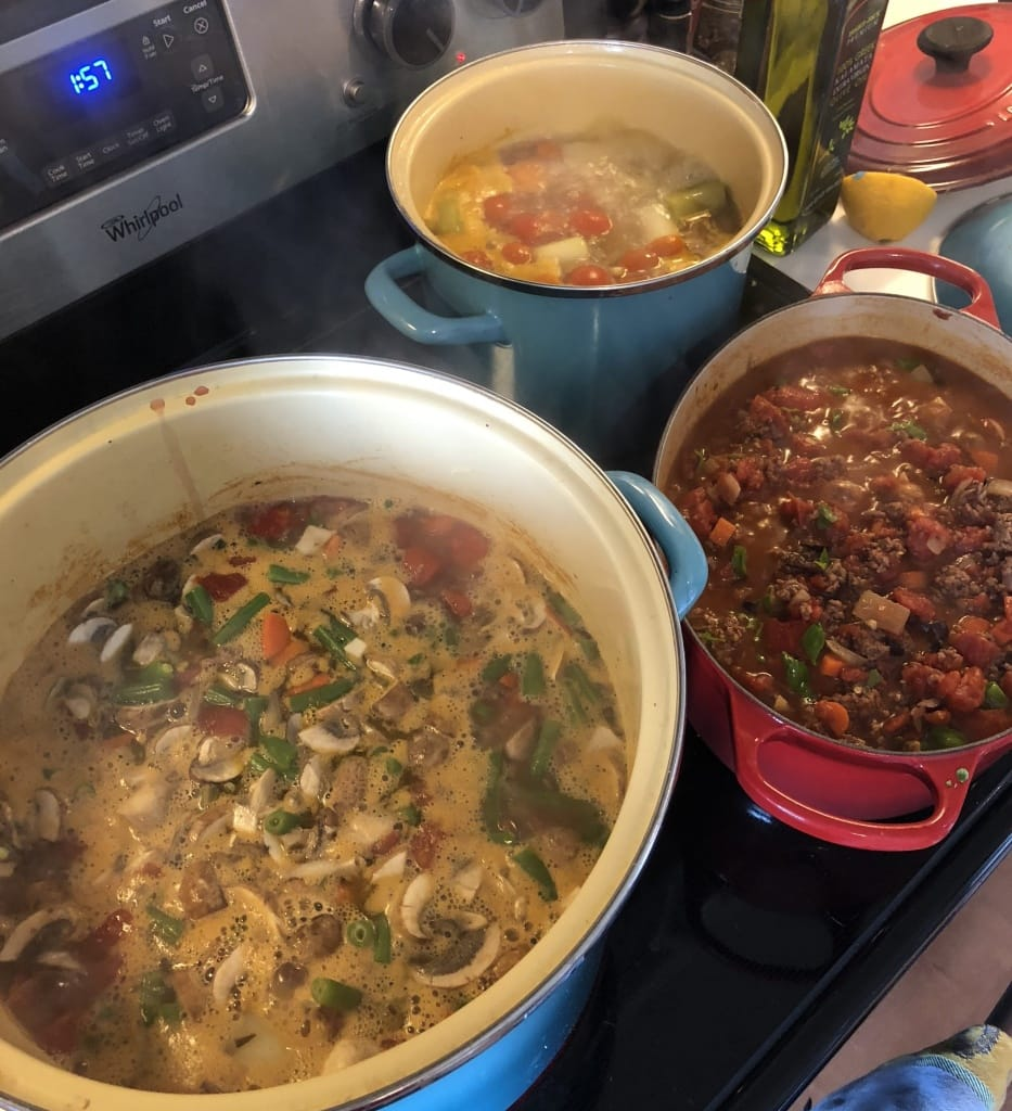 batch cooking italian soups