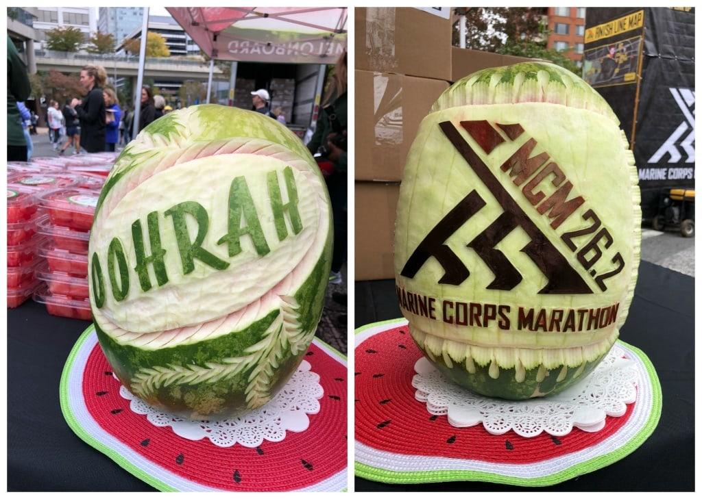marine corps marathon carved watermelons